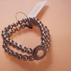 Chico's reversible silver & gold bracelet